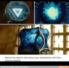 Blue glowing objects --- don't forget Loki's scepter...and the super-soldier serum!