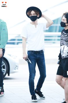 150611: EXO Chen (Kim Jongdae); Incheon Airport to Taipei Airport #exom #fashion #style