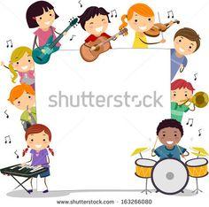 children playing musical instruments clipart - Hľadať Googlom