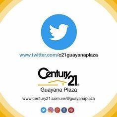 Nos encanta compartir contigo conecta en #Twitter https://twitter.com/c21guayanaplaza  Más audaces más capaces más rápidos.  #Century21  #Guayana  #pzo  #inmuebles #BienesRaices #realestate  #realtor