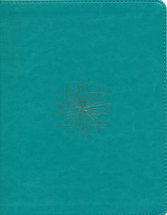 ESV Single Column Journaling Bible (TruTone, Teal, Resplendent Cross Design), soft imitation leather