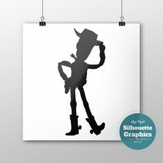 Sheriff Woody Toy Story silhouette file svg by SilhouetteGraphics