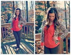 Orange & Leopard for Fall | via Life is a Sunset