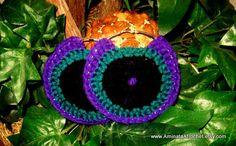 Peacock Earrings by AminataAfrochet on Etsy, $18.00