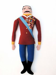General with Medals doll. $300.00, via Etsy.