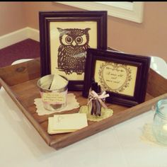 """""""a wise old owl once said"""" Wisdom for the bride to be, written on hand stamped note cards, owl template $1 on etsy, bride loves owls ;)"""