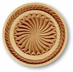 Sun Whirl with border springerle cookie mold by Anis-Paradies 1679 Chip Carving, Wood Carving, Springerle Cookies, Wiccan Art, Door Gate Design, Wood Molding, Carving Designs, Old World Charm, Whittling