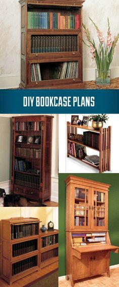 Bookcase Plans - make your own bookcase. http://www.rockler.com/woodworking-media/woodworking-plans/furniture-project-plans/bookcase-plans
