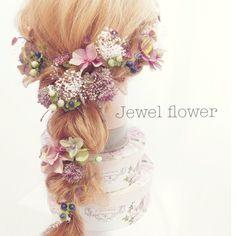 再入荷♡ラベンダーセダムのアンティークヘッドドレス|ヘッドドレス(ウェディング)|Jewel flower|ハンドメイド通販・販売のCreema