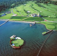 Coeur d'Alene Golf Course by Scott Miller Home to the world's first and only floating green.