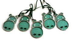 hippo bunting suncatcher