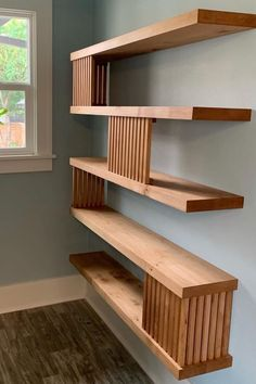 Looking to adding some storage to your living room or kitchen and don't have any more closet space? Check out the best floating shelf ideas to get started! Condo Design, Floating Bookshelves, Diy Shelves, Modern Floating Shelves, Shelf Design, House, Floating Shelves Living Room, Shelf Decor Living Room, Home Deco