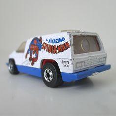 Vintage Hot Wheels Spider-Man Van, 1970s Toy Car / Van - Marvel, Mattel, diecast, kids toy, superhero, comic hero, dad gift, sci fi. $20.00, via Etsy.