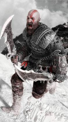 Kratos God Of War, Best Gaming Wallpapers, Deadpool Wallpaper, Weapon Concept Art, Video Game Art, Video Games, Thor, Comic Art, Fantasy Art