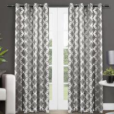 Amalgamated Textiles Modo Geometric Semi-Sheer Curtain Panels & Reviews | Wayfair