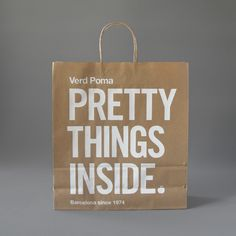 Pretty Things Inside AWESOME memorable branding and packaging. Great advertising and packaging. Design Fonte, Graphisches Design, Wine Design, Creative Design, Pretty Packaging, Packaging Design, Branding Design, Clever Packaging, Packaging Ideas