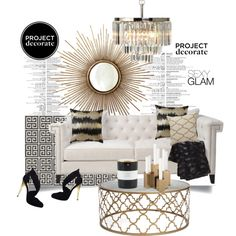 """Project Decorate; Sexy Glam"" by lilieshomeandgarden on Polyvore"