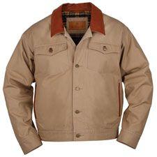 Schnee's Leather Collar Canvas Jean Jacket.  $195