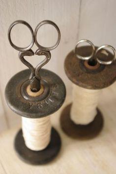 old spinning bobbins