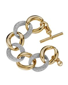 Golden-Pave Link Bracelet by Michael Kors at Last Call by Neiman Marcus.
