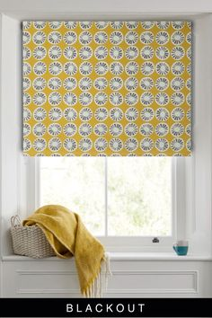 This simple but stylish blind features a stand-out print, while the roller design is easy to fit and looks neat and tidy in any window. Sponge clean only. Yellow Roller Blinds, Window Roller Shades, Roller Design, Blackout Blinds, Flat Ideas, Neat And Tidy, Roman Blinds, Buy Prints, Furniture