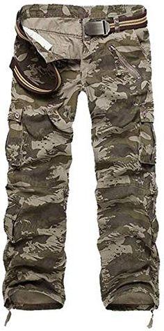 Mens Kids Boys Cargo Army Combat Work Pants Blue Sky Urban Camo HeavyDuty Cotton