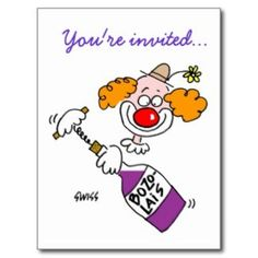 Humorous Announcement And Invitation Postcards