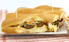 Merguez Sausage Bánh Mì with Spicy Mayo & Pickled Vegetables