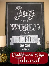 Inspiration For Moms: DIY Chalkboard Signs (Tutorial)