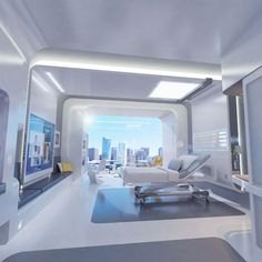 One idea for what a hospital patient's room will look like in 2020.