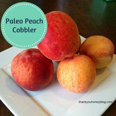 Paleo Peach Cobbler Dessert Recipe by Thank You Honey Paleo Sweets, Paleo Dessert, Best Dessert Recipes, Gluten Free Desserts, Healthier Desserts, Paleo Peach Cobbler, Cobbler Recipe, Paleo Desert Recipes, Paleo Recipes
