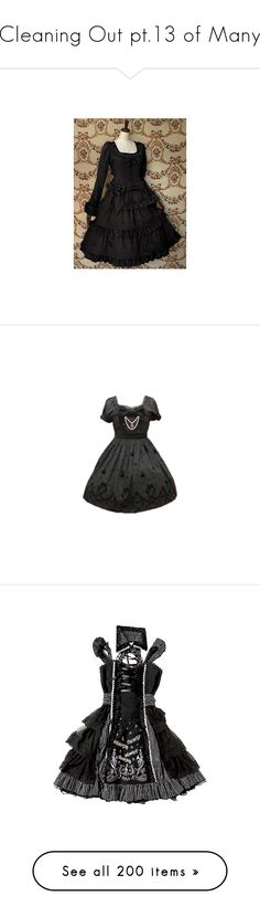 """""""Cleaning Out pt.13 of Many"""" by june-batty ❤ liked on Polyvore featuring lolita, dresses, op, moi-même-moitié, lolita op, antique beast, gothic lolita, white, tops and sweaters"""
