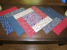 My Patchwork Quilt: PATRIOTIC TABLE RUNNER -- tutorial