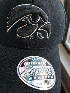 f9a58aced4c Iowa Hawkeyes Official NCAA Black Element M L Hat Cap by Zephyr  Zephyr   IowaHawkeyes