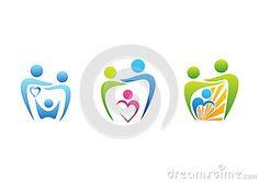 Family parenting dental care logo, dentist health education symbol family illustration icon set vector design - http://www.dreamstime.com/stock-photography-image56134908#res7049373