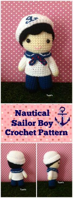 Nautical Sailor Boy Crochet Pattern
