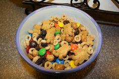 "Teddy Bear Trail Mix...""T"" snack for school"