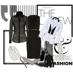 """Black and White Done Right"" by timirac on Polyvore"