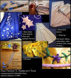 Summoner Yuna from Final Fantasy X. Commissioned by Made by FFX: Summoner Yuna commission Yuna Cosplay, Cosplay Diy, Cosplay Costumes, Cosplay Ideas, Anime Cosplay, Yuna Final Fantasy, Cosplay Characters, Cosplay Tutorial, Fantasy Costumes