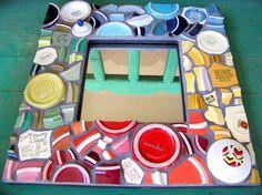 mosaic mirror - back porch?