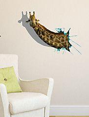 3D Wall Stickers Wall Decals, Giraffe Bathroom ... – USD $ 14.99
