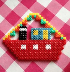 Hama Beads Christmas, Christmas Ornaments, Christmas Door Decorations, Holiday Decor, Bead Crafts, Diy Crafts, Perler Beads, Diy For Kids, Kids Playing