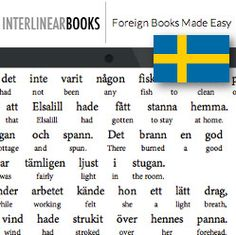 Interlinear books in Swedish - direct English translation under the Swedish text for easier learning