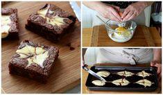 Receita passo a passo: brownie marmorizado tipo cheesecake