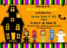 Printable Halloween Invitations For Kids Free Invitation Templates Word Birthday Party Costume