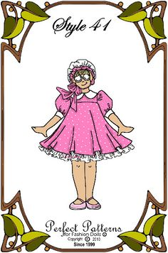 """Doll Clothes Pattern - Dress - No. 41 - Fits 10"""" Ann Estelle, Patsy or 14"""" Betsy McCall Fashion Dolls"""