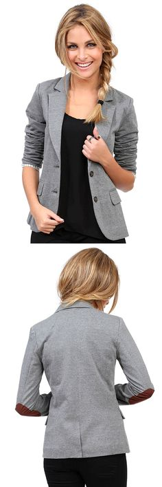 chic blazer with elbow patches