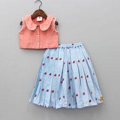 Girls Frock Design, Baby Dress Design, Kids Frocks Design, Baby Frocks Designs, Baby Girl Skirts, Dresses Kids Girl, Kids Outfits, Kids Indian Wear, Kids Ethnic Wear