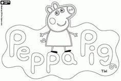desenho de Logo Peppa Pig, A Porquinha Peppa para colorir