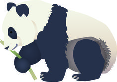 It's that time of week again! Our symbol of the week is the Giant Panda! 99% of the Panda's diet is comprised of bamboo. Click the panda for a free download! #panda #free #vector #symbol #sciencecommunication
